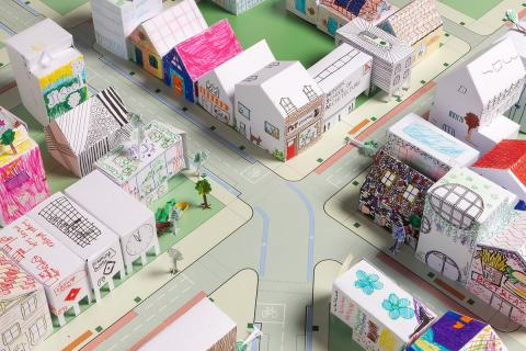 photo of a paper toy city