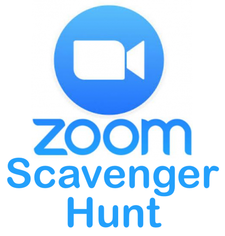 Zoom logo (blue circle with video camera icon)